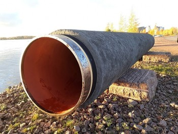 Nord Stream pipe in Kotka
